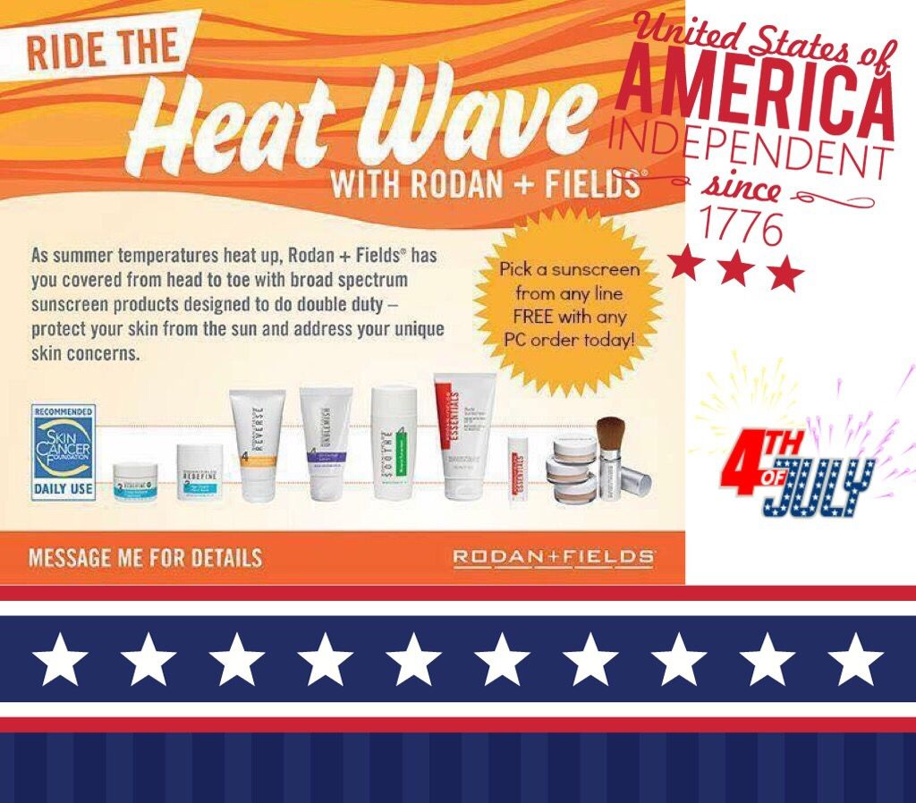 FREE sunscreen with any new PC order for the month of July