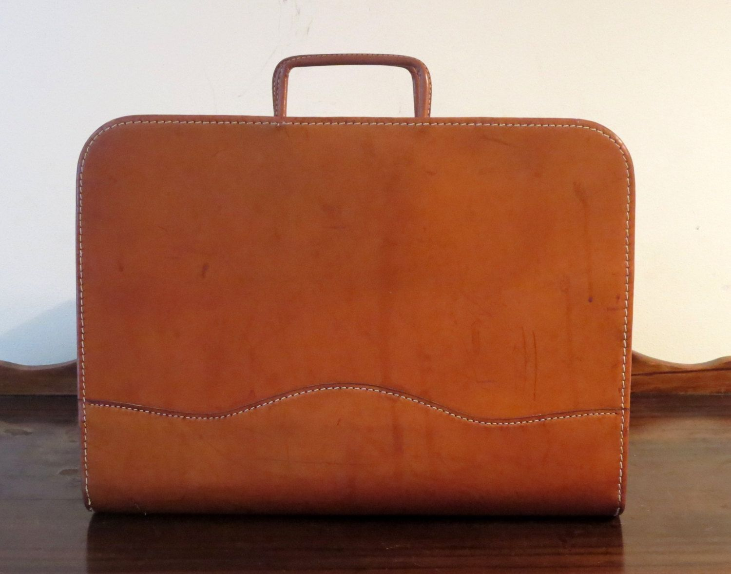 Saltz California Saddle Leather Drop Handle Portfolio By Golden State Leather Goods- Very Rare by ProVintageGear on Etsy