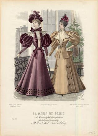 American fashions, 1895 :: Fashion Plate Collection, 19th Century