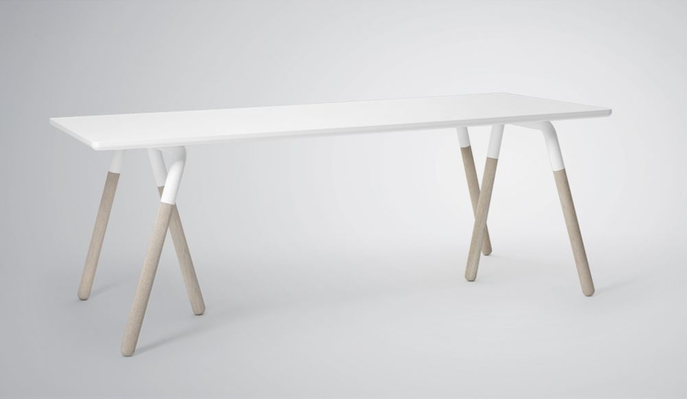 Buy Wood Table Legs With White Table Top And Paint Part Of Legs White.