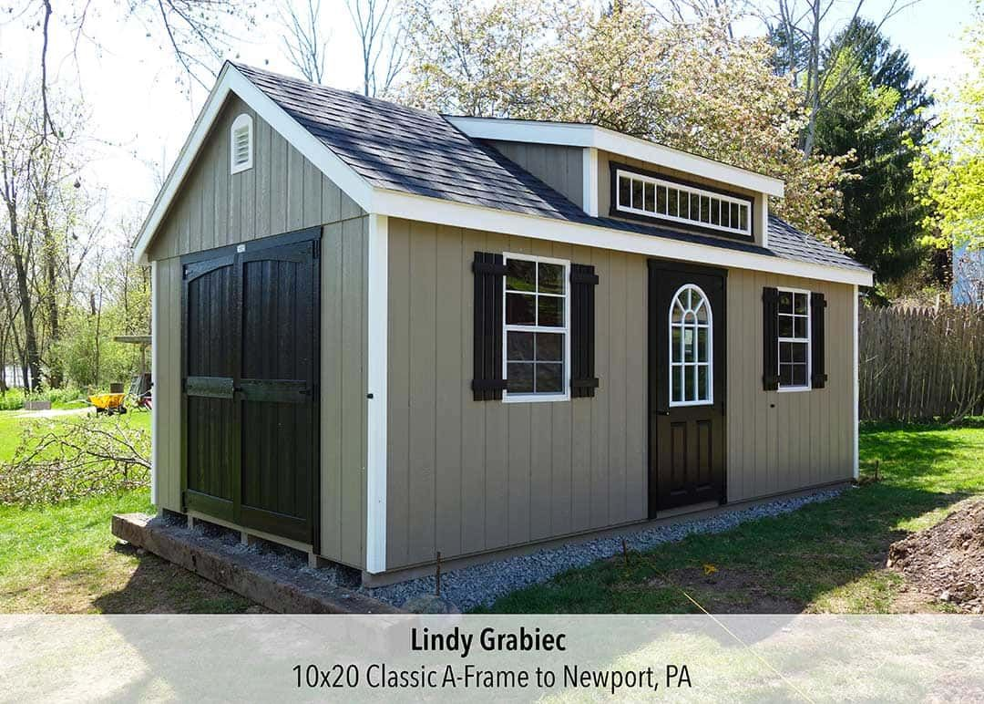 10x20 Classic A Frame To Lindy Grabiec In Newport Pa 10x20 Shed Diy Storage Shed Barns Sheds