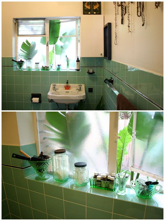 art deco bathroom with uranium glass bathrooms art deco bathroom rh pinterest com