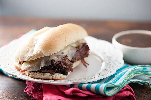Easy French Dip Sandwiches! A perfect family dinner that's easy enough for a weeknight!