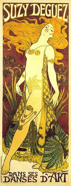 Art Nouveau Poster | Eugène Grasset, Suzi Deguez, 1905.