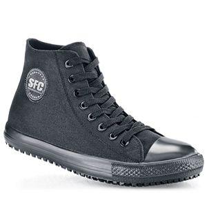 Slip resistant shoes, Black slip ons, Shoes