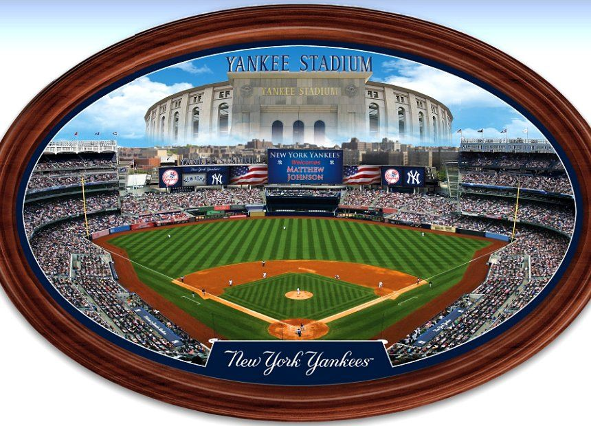 New York Yankees Personalized Stadium Wall Decor Oval Plate | New ...