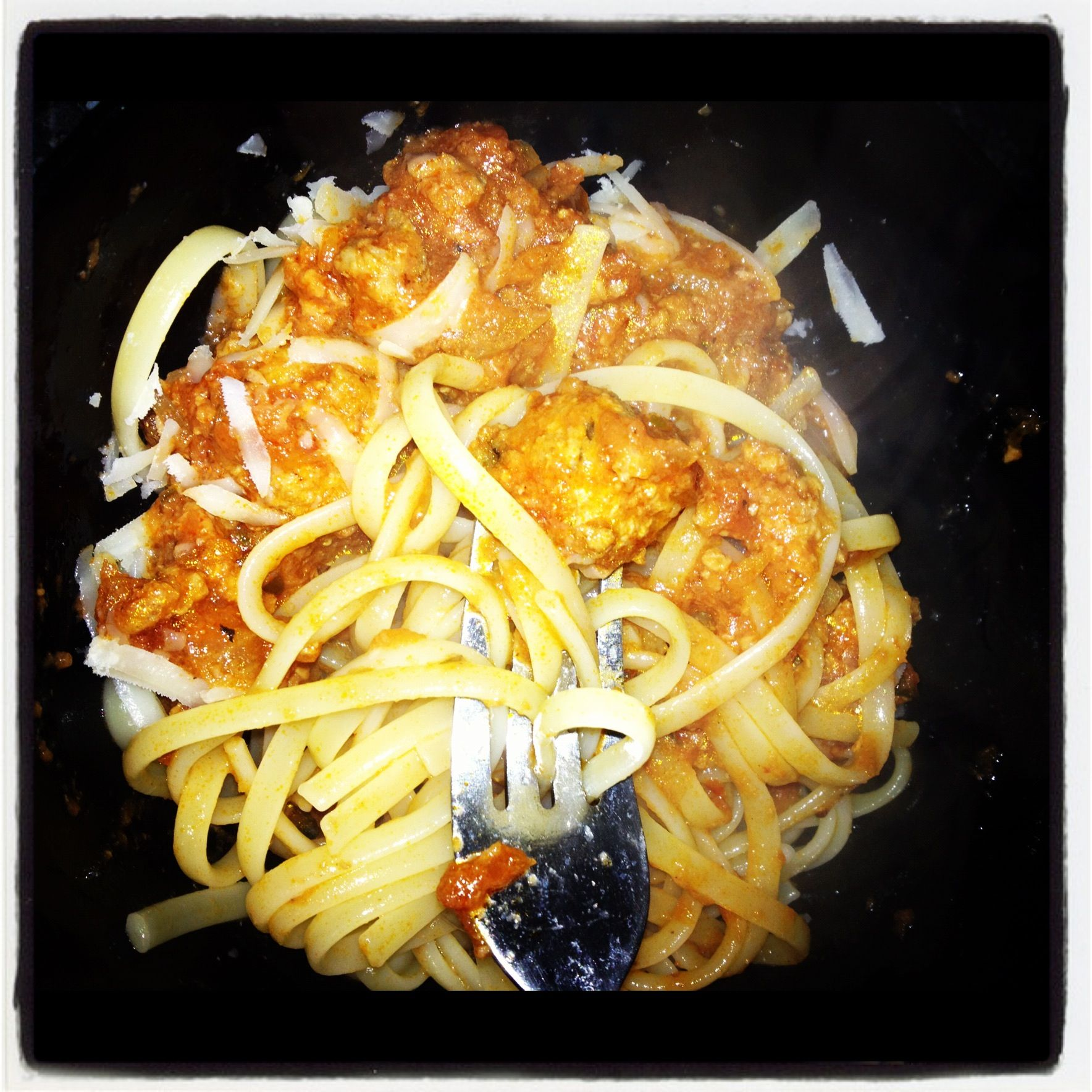 Turkey meatballs with linguine