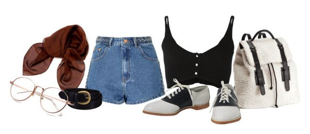 """""""here to observe"""" by faown ❤ liked on Polyvore featuring H&M, Glamorous, Forte Forte, Dolce&Gabbana and Uniqlo"""