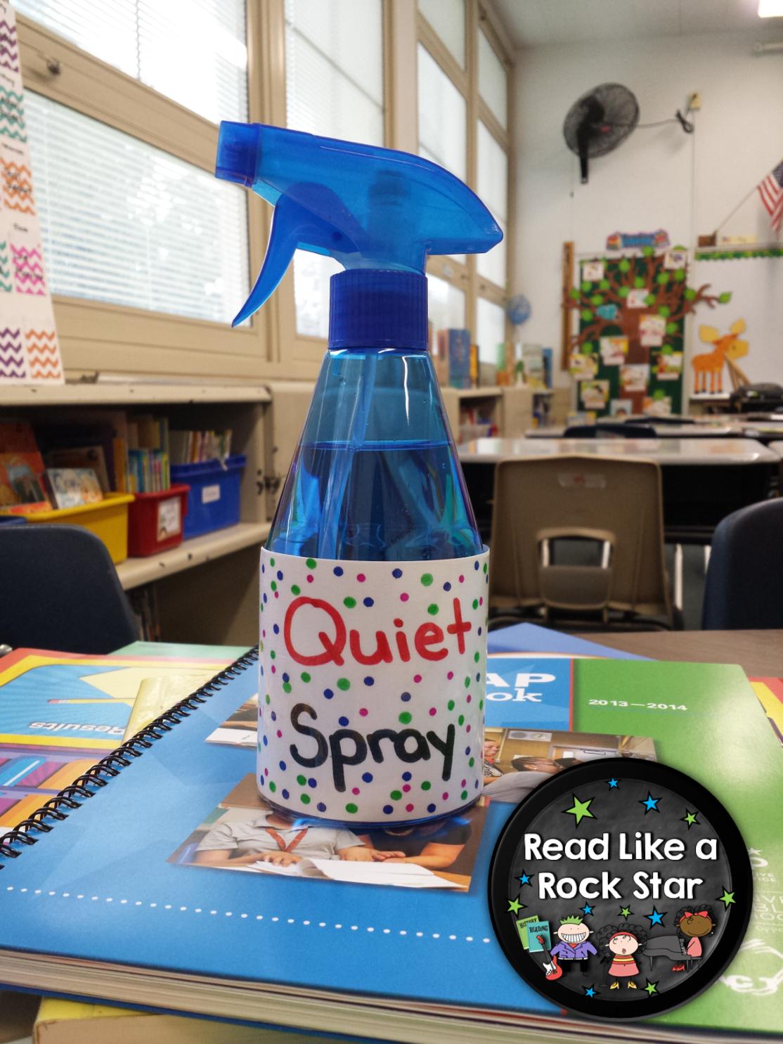 Read Like a Rock Star's Quiet Spray Bright Idea!
