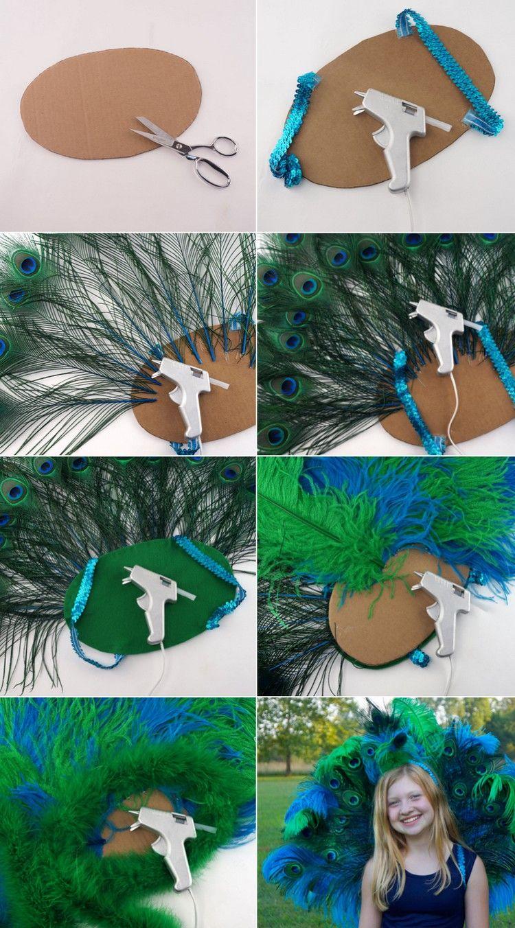 Pfau Kostüm selber machen – 20 Ideen für Fasching und Halloween #victorian