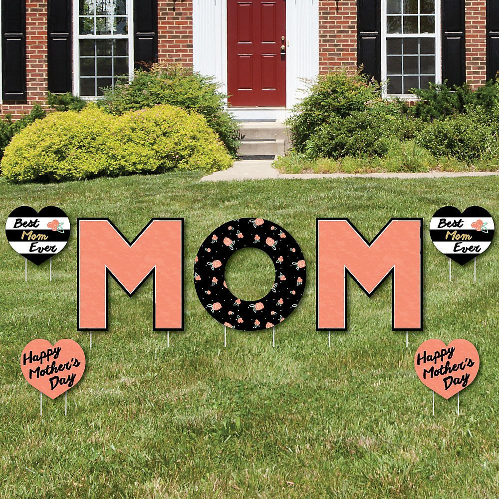 Dinosaur Lawn Decorations Best Mom Ever Yard Sign Outdoor Lawn Decorations Mothers Day
