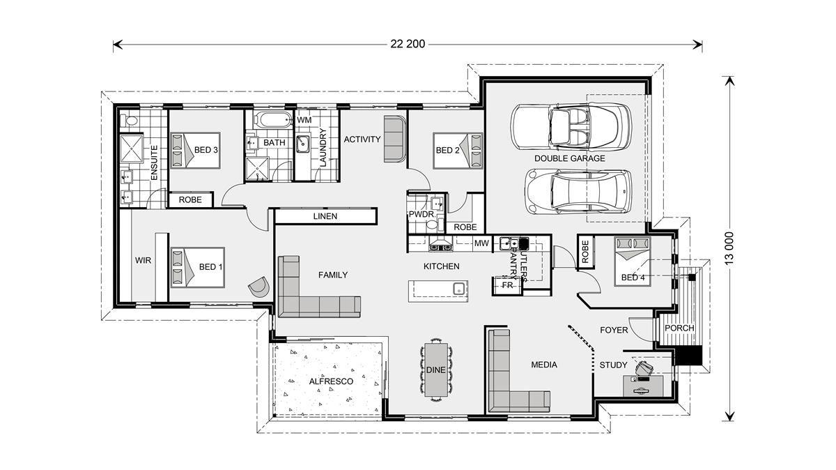 Bedarra 247 Floor plans, House design, House plans