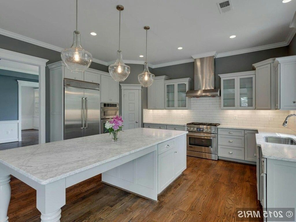 Pin by Ashley p on New kitchen   Kitchen island dining ...