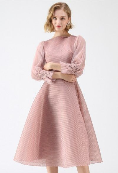 The Perfect Match Lace Twinset Dress in Pink - Retro ...