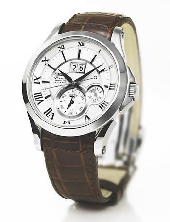 Buy Seiko Premier Kinetic Perpetual Calendar Watch Snp023p1