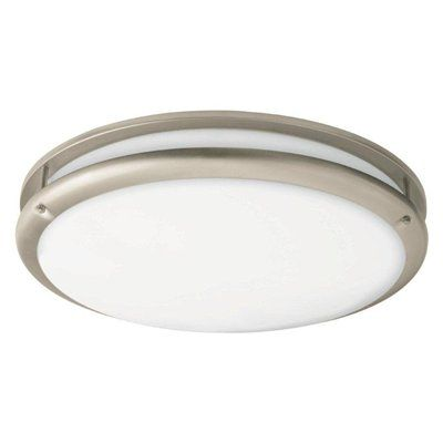 Portfolio White Acrylic FlushMount Fluorescent Light This product