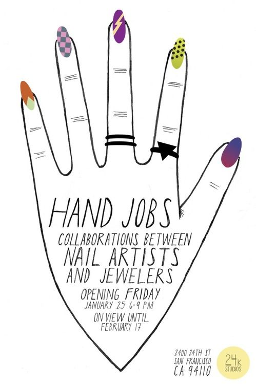 nancymcnails: HAND JOBS The first exhibition of its kind