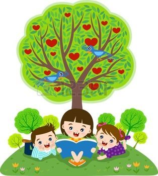 Cartoon Of Little Boy In A Tree He Is Reading A Book Kids Reading Books Tree Art Apple Tree ✓ free for commercial use ✓ high quality images. kids reading books tree art apple tree