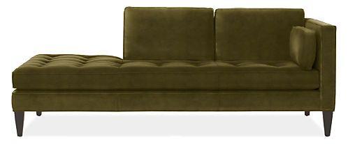 Hutton Chaises - Modern Chaises & Studio Sofas - Modern Living Room Furniture - Room & Board