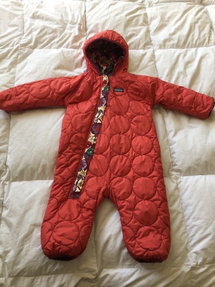 f1b4c0db4 Patagonia Reversible Down Feather Baby Bunting Snowsuit | Baby and ...