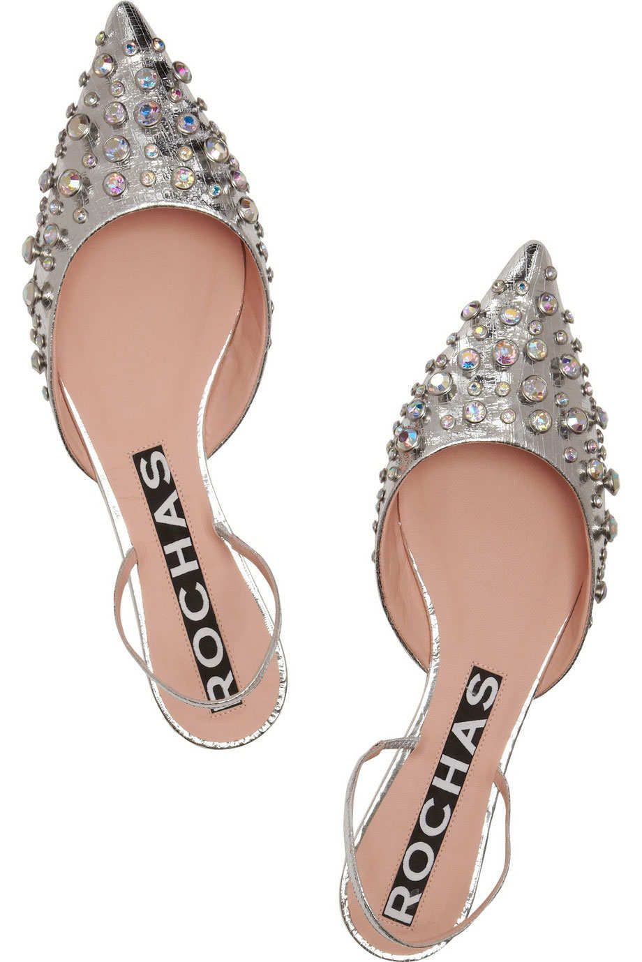 72ac6926d15 Shoe Gaze  Rochas s Embellished Pointed Flats