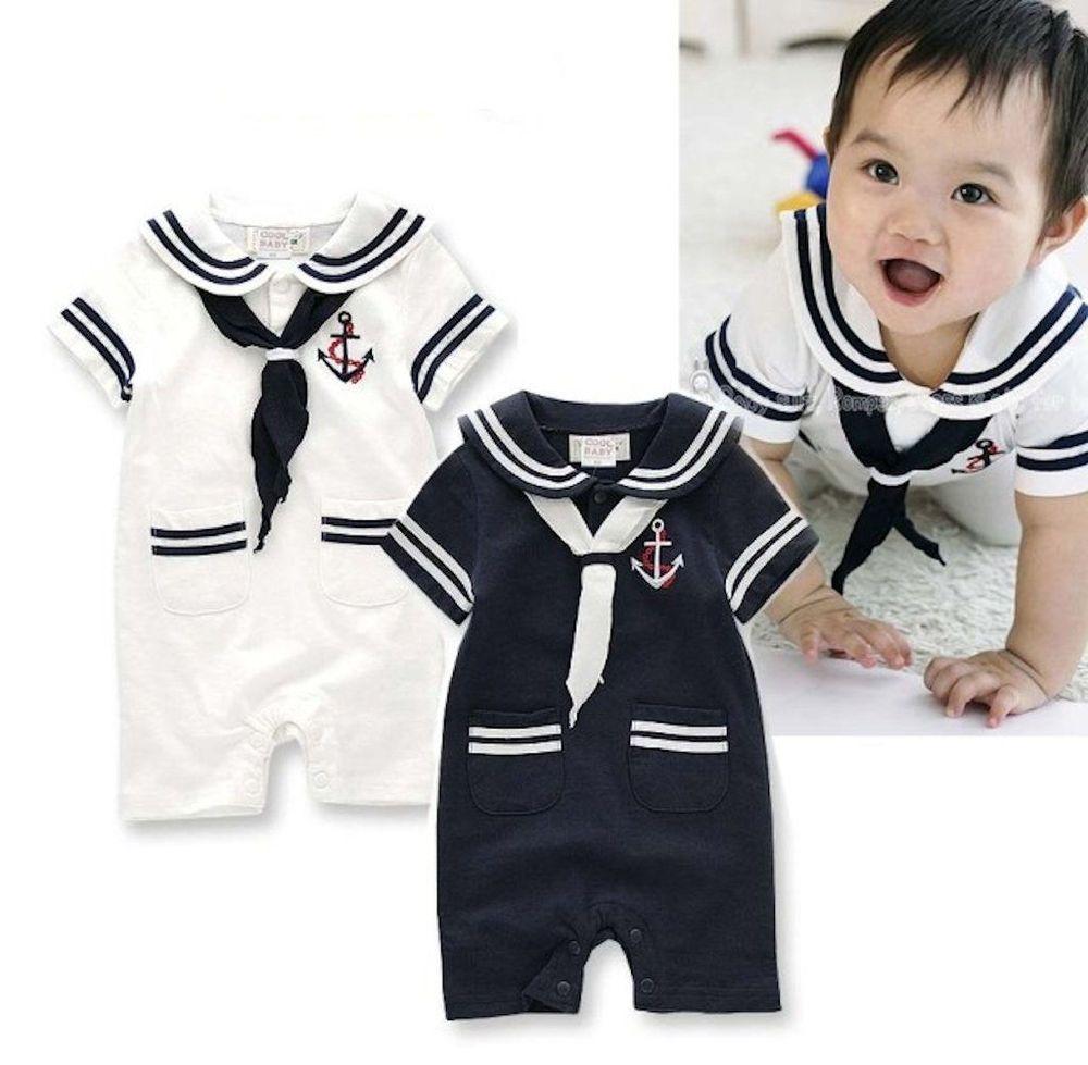 StylesILove Baby Boy Marine Sailor Costume Romper - 2 Colors  sc 1 st  Pinterest & StylesILove Baby Boy Marine Sailor Costume Romper - 2 Colors | Boy ...