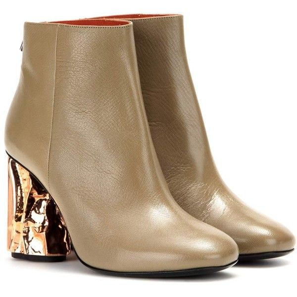 Acne Studios Embellished Leather Booties visa payment cheap price clearance new styles outlet low shipping fee sVDASmUw