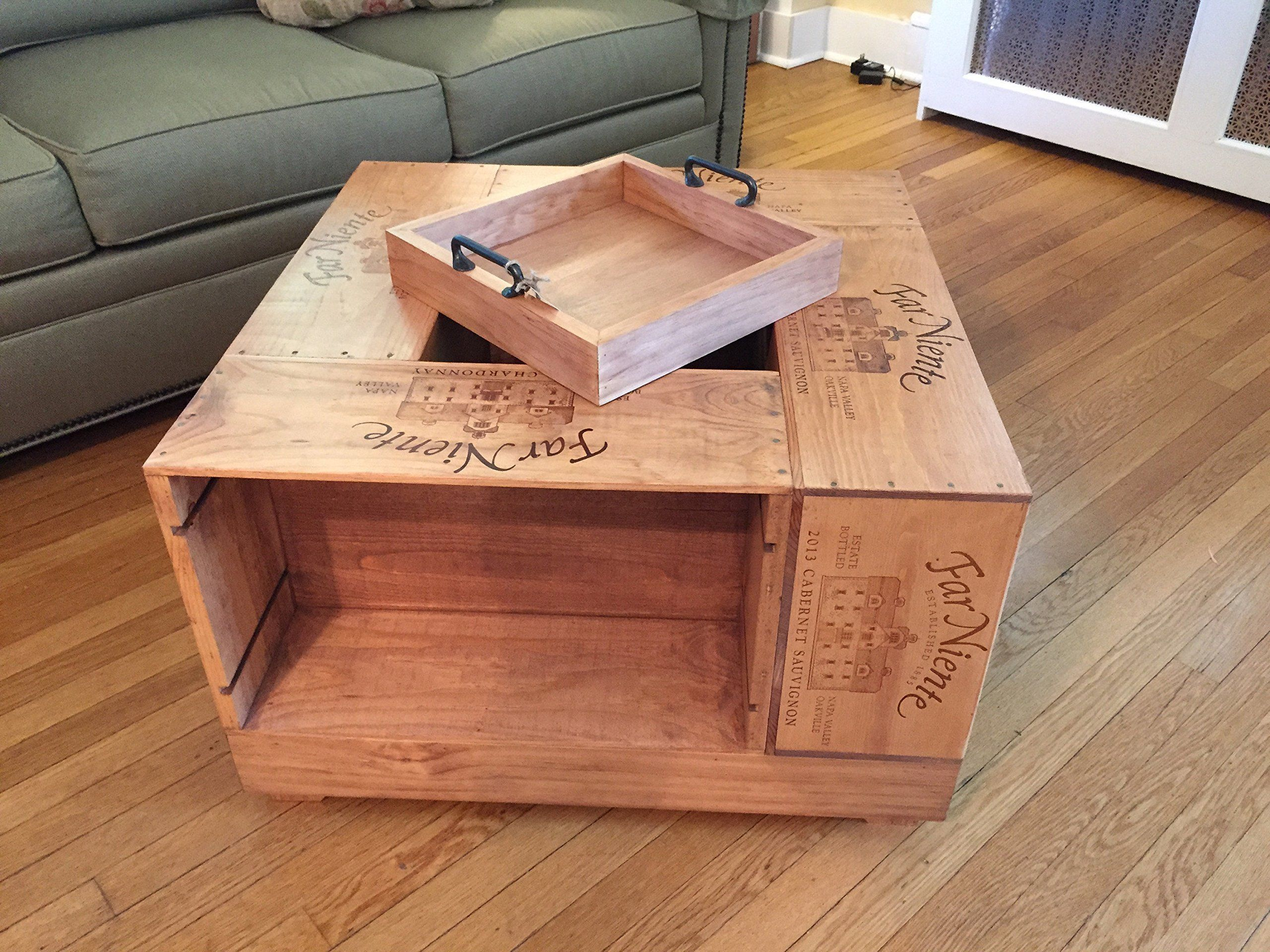 Wine Box Decor Crate 12 Bottle Size Handmade Wine Crate Coffee Table Crate Coffee Table Wine Crate