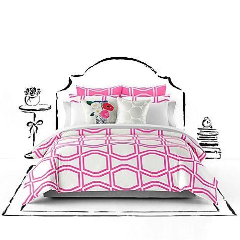Kate Spade New York Bow Tile Duvet Cover Set Comforter Sets Kate Spade Bedding Duvet Cover Sets