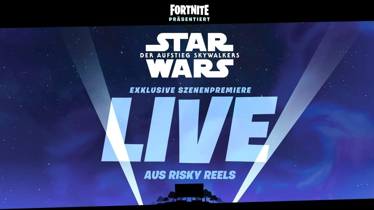 On Saturday You Can See A Scene From Episode 9 Of Star Wars The Rise Of Skywalker At Fortni Fortnite Star Wars New Star Wars
