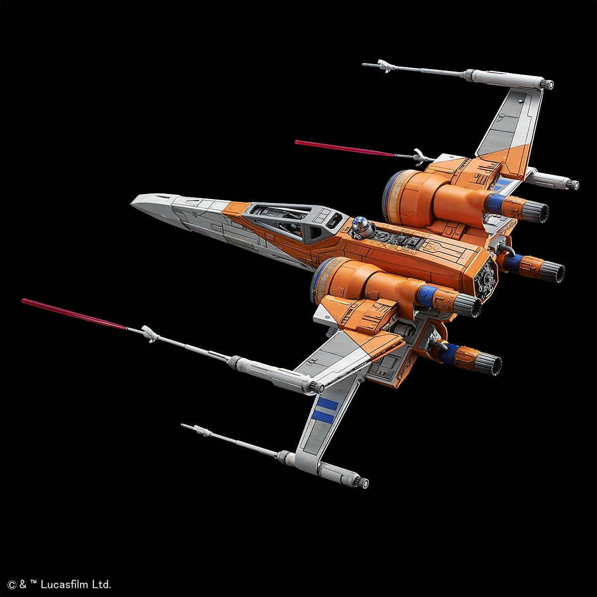 Bandai 1 72 Scale Plastic Model Kit Poe S X Wing Starfighter Star Wars The Rise Of Skywalker Ver X Wing Starfighter Plastic Model Kits Starfighter