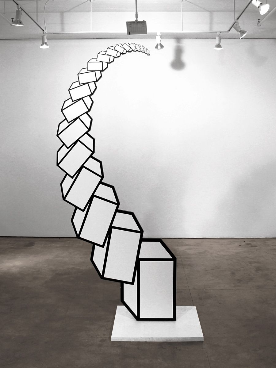 Fluorescent geometric abstract shapes art pinterest for Geometric illusion art