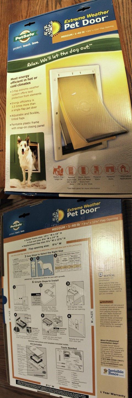 Doors And Flaps 116379 Petsafe Extreme Weather 3 Flap Pet Dog Doggy