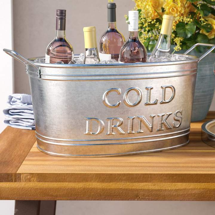 Darby Home Co Snediker Galvanized Cold Drinks Oval Tub In 2019