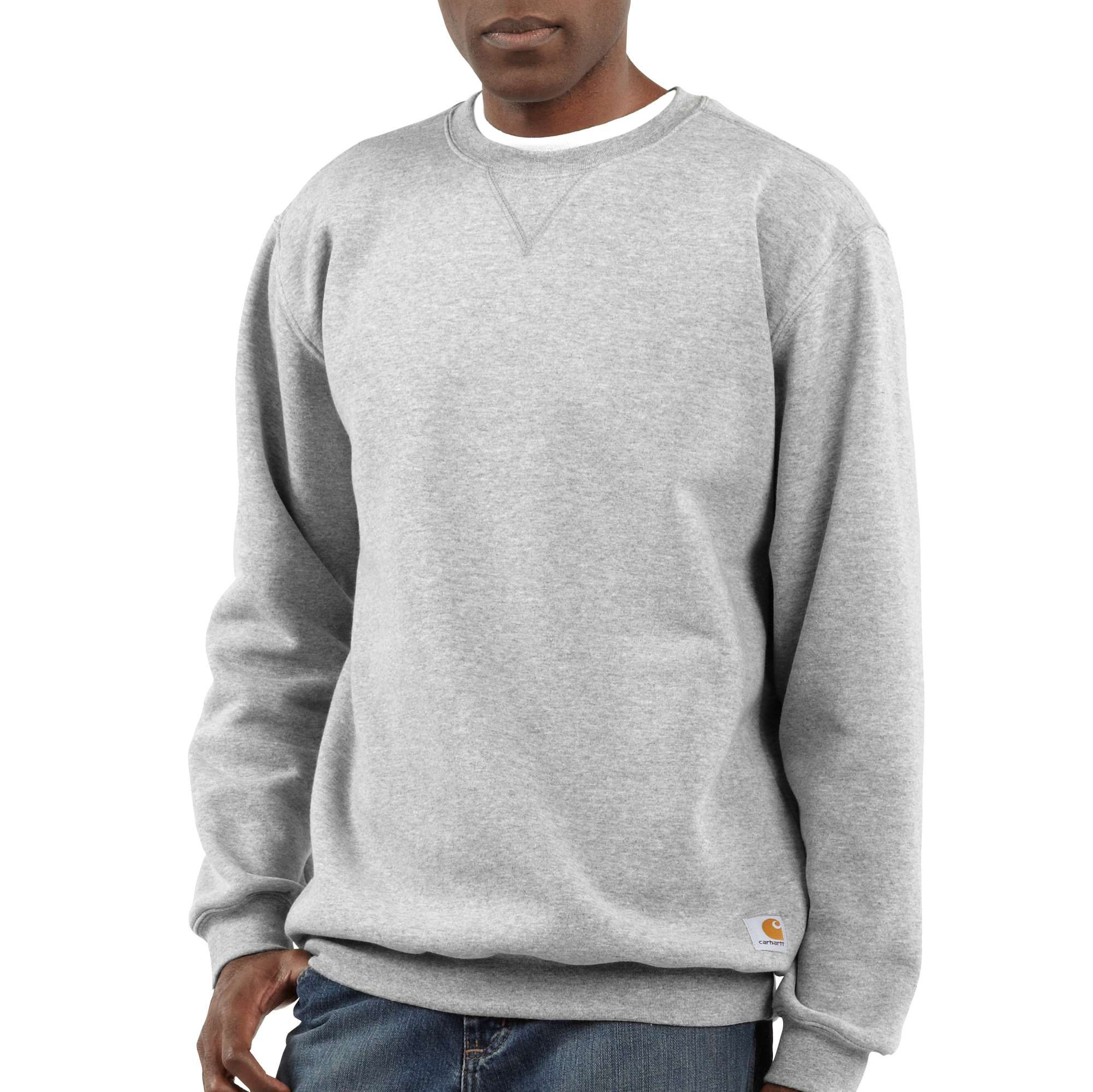 Midweight Crewneck Sweatshirt Carhartt Mens Crew Neck Sweatshirt Grey Sweatshirt Mens [ 1998 x 2000 Pixel ]