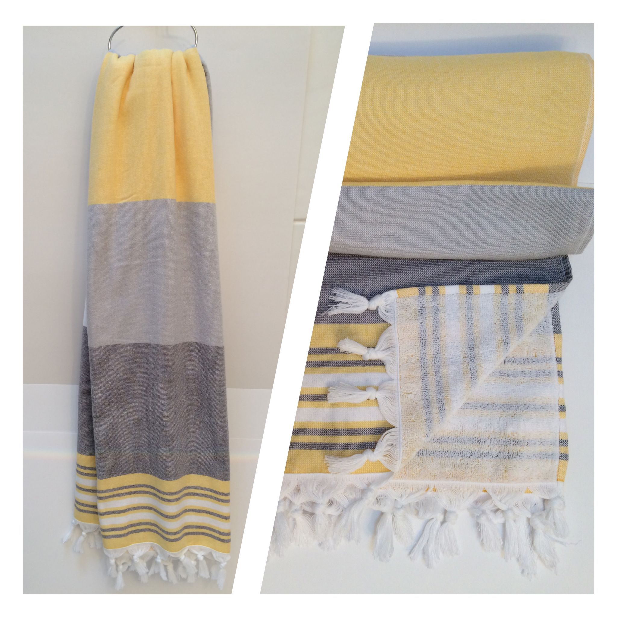 Turkish Towels by SummerForever flat woven on one side and terry