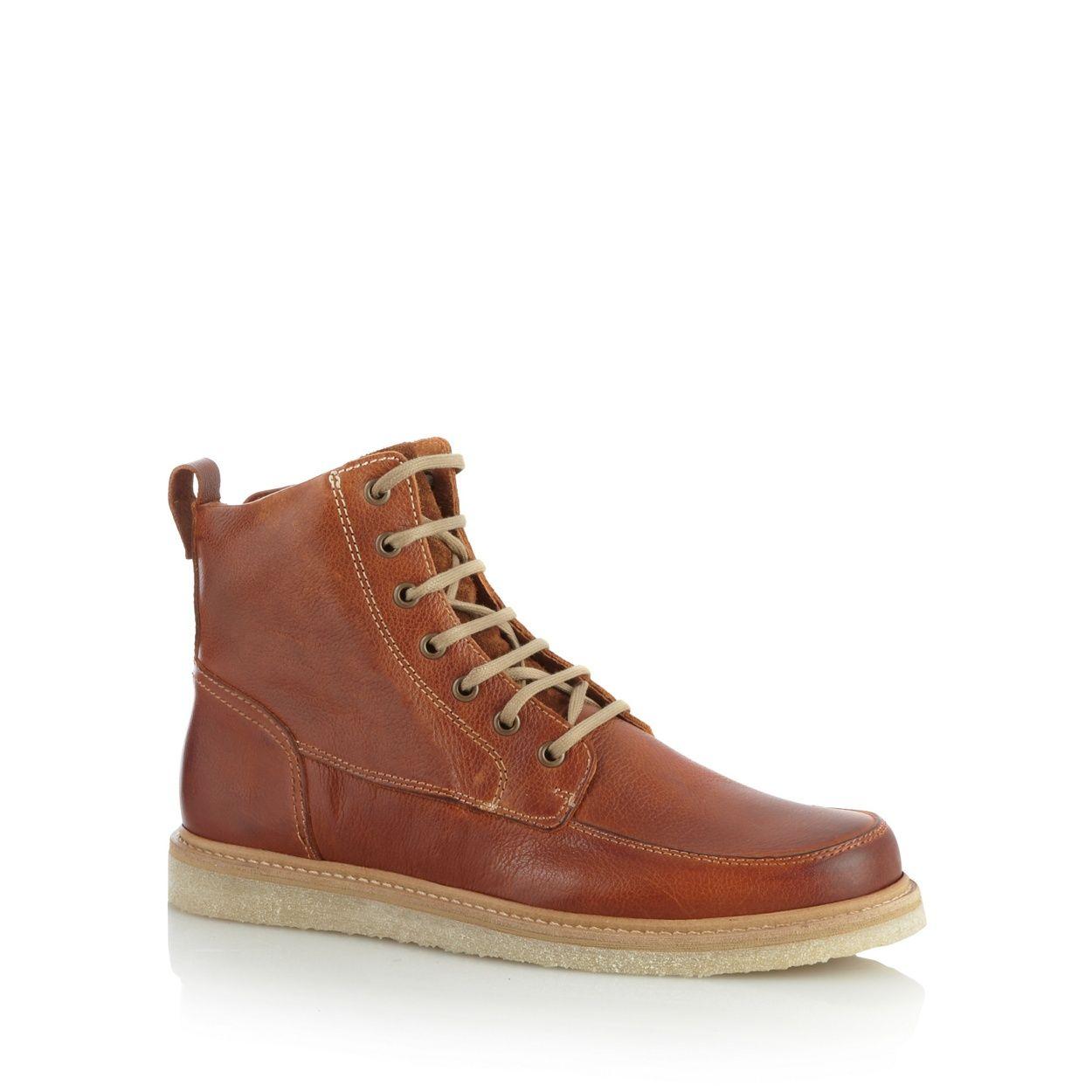 4a600267ea28 RJR.John Rocha Designer tan leather lace up boots- at Debenhams.com ...