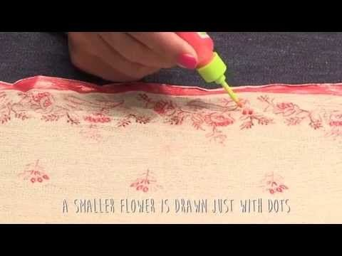 Liquid Embroidery Delicate Embroidery Border Youtube