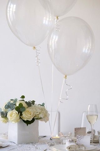 Diy table decorations balloon flowers clear balloons and champagne diy table decorations and wedding tablecentres bridesmagazine junglespirit Images