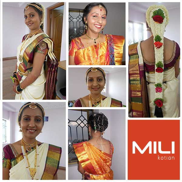 The traditional ‪#‎Bridal‬ makeovers from Mili Kotian. ‪#‎BridalMakeup‬, ‪#‎BridalMakeupInBangalore‬