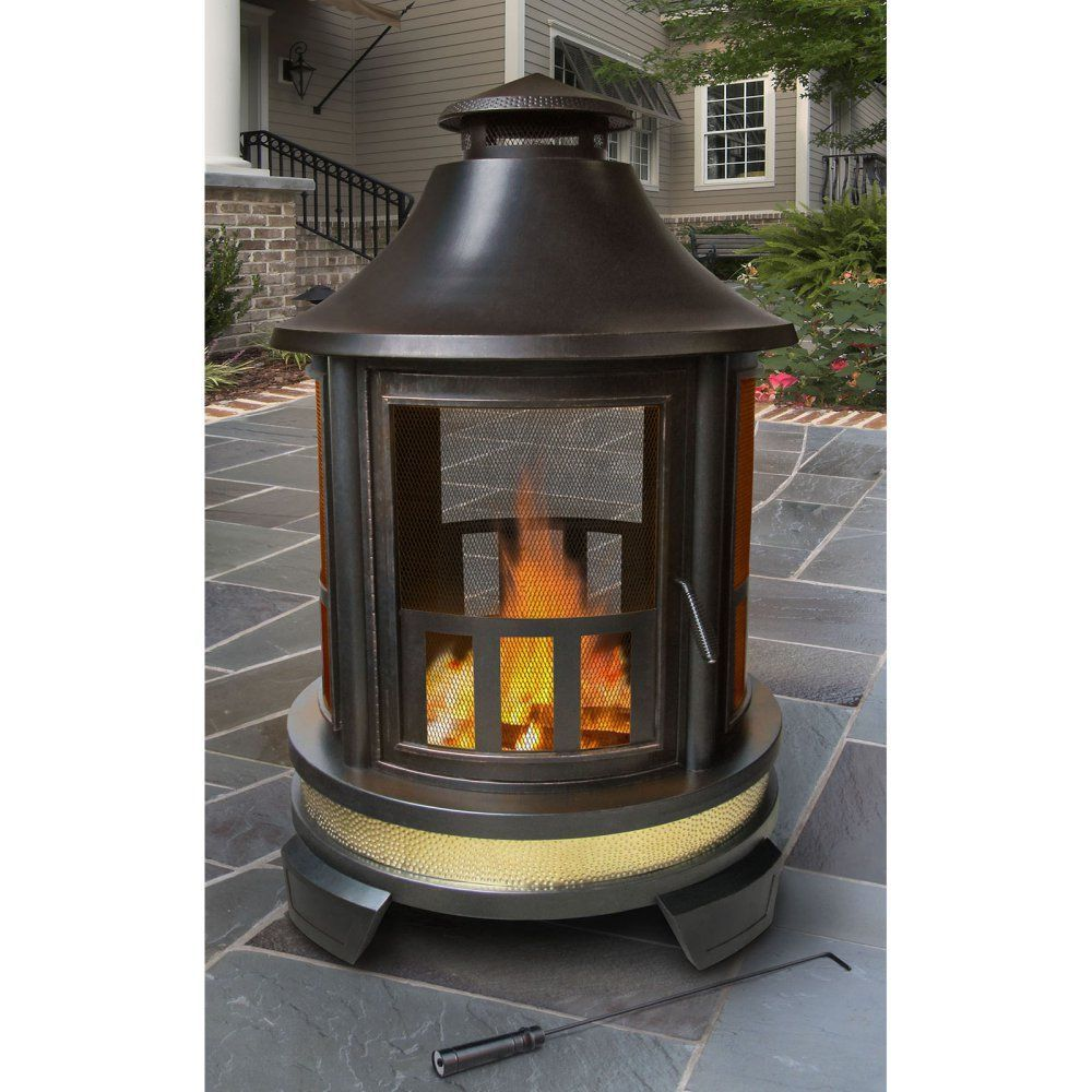 Landmann hartford outdoor fireplace bask in the glowing warmth and