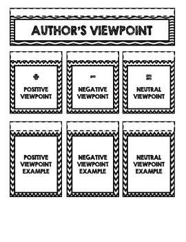 Perfect for interactive student notebook! Use this Author's ...