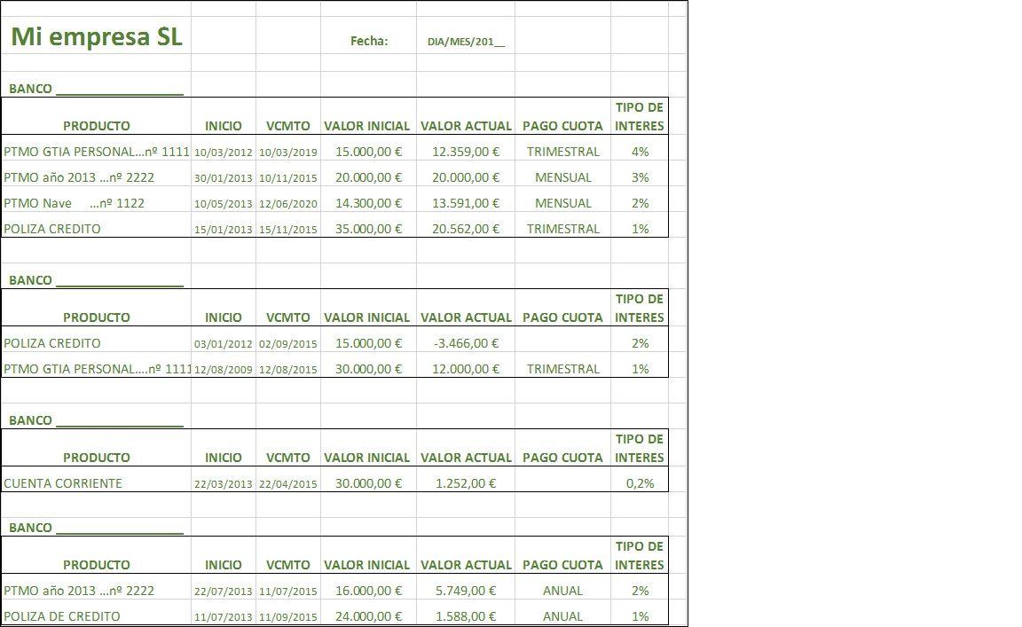 POOL para los BANCOS ¿Qué es y plantilla Excel?   Excel Hojas de ...