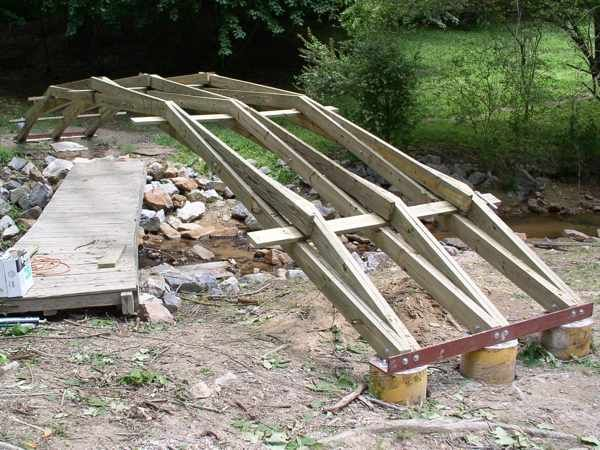 Jimm038 Jpg 600 450 Piks Bridge Construction Backyard Bridges Wood Bridge