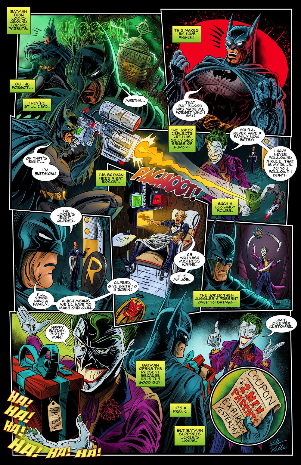 ArtStation A.I. Batman Script Comic, William Valle in