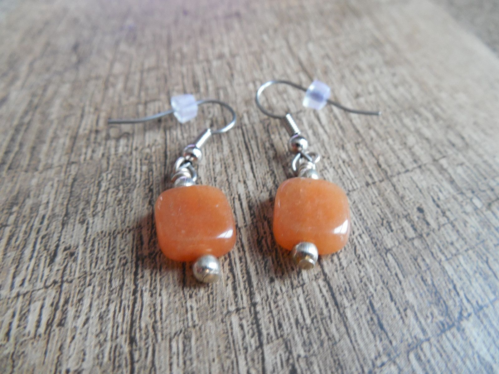Handmade Orange Drop Earrings