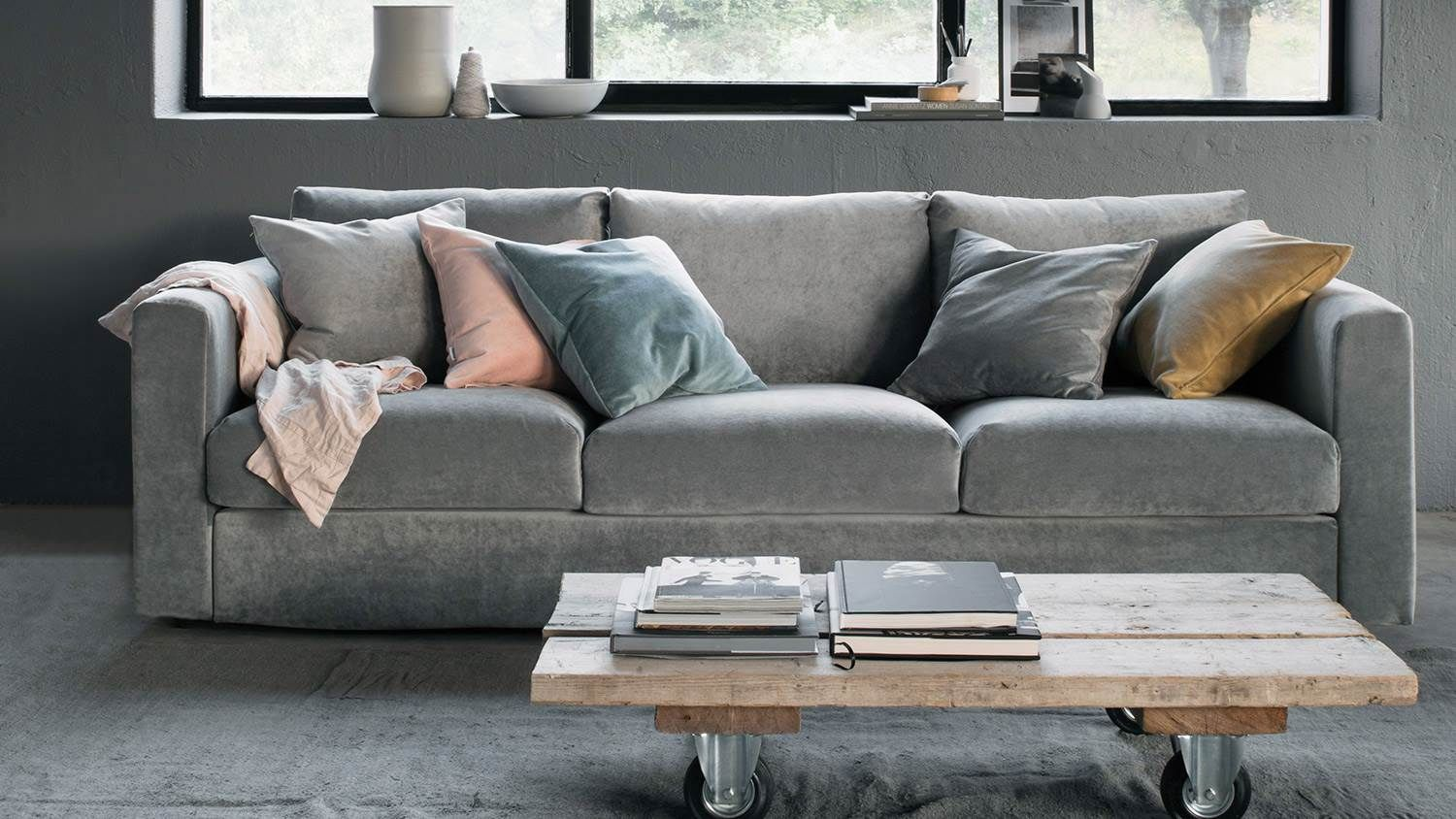 Muted Cozy Color Palette Industrial Coffee Table Ikea Sofa Covers Ikea Couch Ikea Sofa