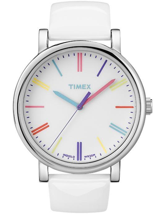 white + pastel watch