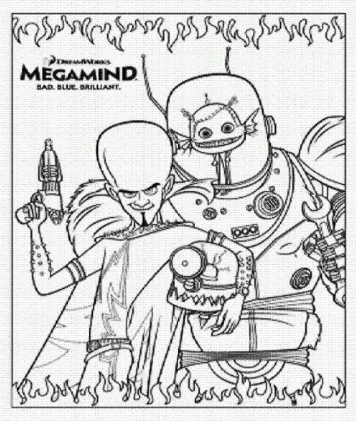 Desenhos Para Imprimir E Colorir Do Megamente Megamind Dibujos