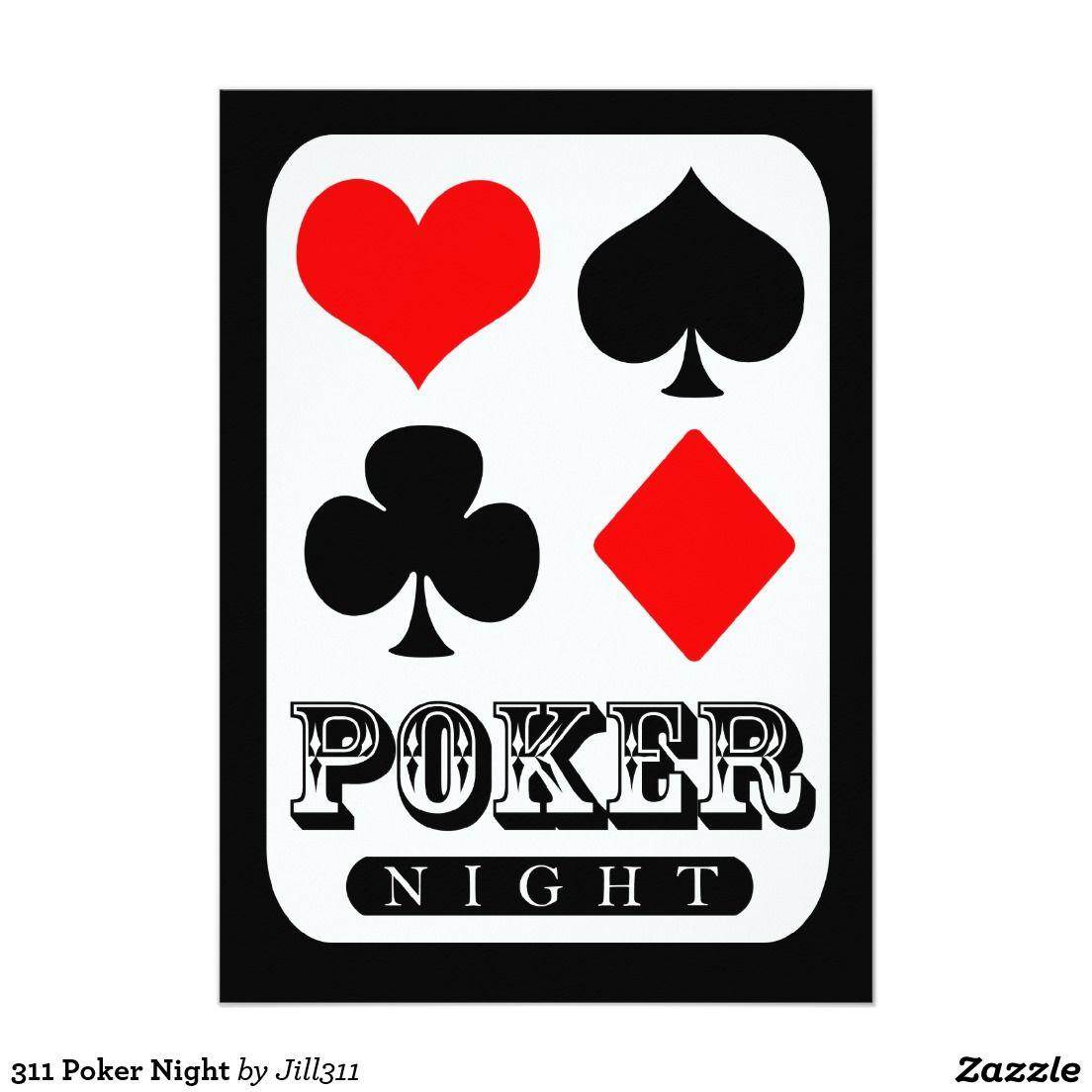 311 Poker Night Invitation in 2018   Poker Theme Birthday Party ...